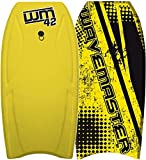 Body Boards - Professional Series Slick Bottom Bodyboard - Heat Sealed BLZ Lucky Body Boards (Yellow Wave Pro, 44')