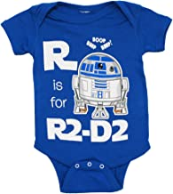 Star Wars R Is For R2-D2 Mini Fine Movie Baby Creeper Romper Snapsuit Snapsuit Size: 0-6 Months