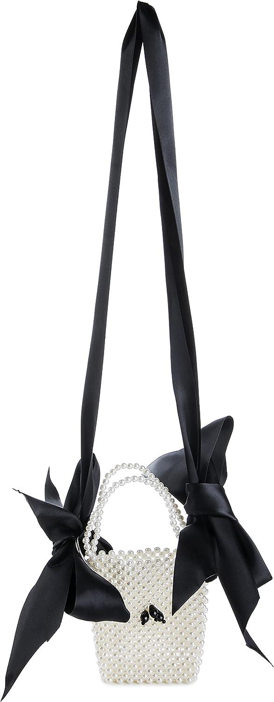 YUSHINY Acrylic Beaded Handmade Lipstick Evening Lace-up Shoulder Bag for Wedding party