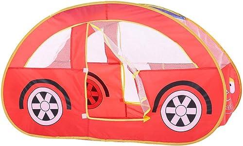 Yhjklm Tente pour Enfants Enfants Jouer Maison de Jouets pour Enfants Voiture Rouge à l'intérieur ou à l'extérieur et Tente de Jeu Tente pour l'intérieur et l'extérieur