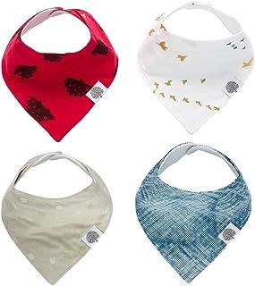 Parker Baby Bandana Drool Bibs 4 Pack Baby Bibs for Boys, Girls, Unisex