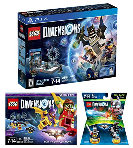 Lego Dimensions Starter Pack + Lego Batman Movie Story Pack + Excalibur Batman Fun Pack for PS4