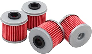 Pack of 4 Oil Filter for Honda TRX450ER TRX450R ATV CRF250R CRF250X CRF450R CRF450X CRF150R CRF150RB Husqvarna TC250 TE250 TXC250 TE310