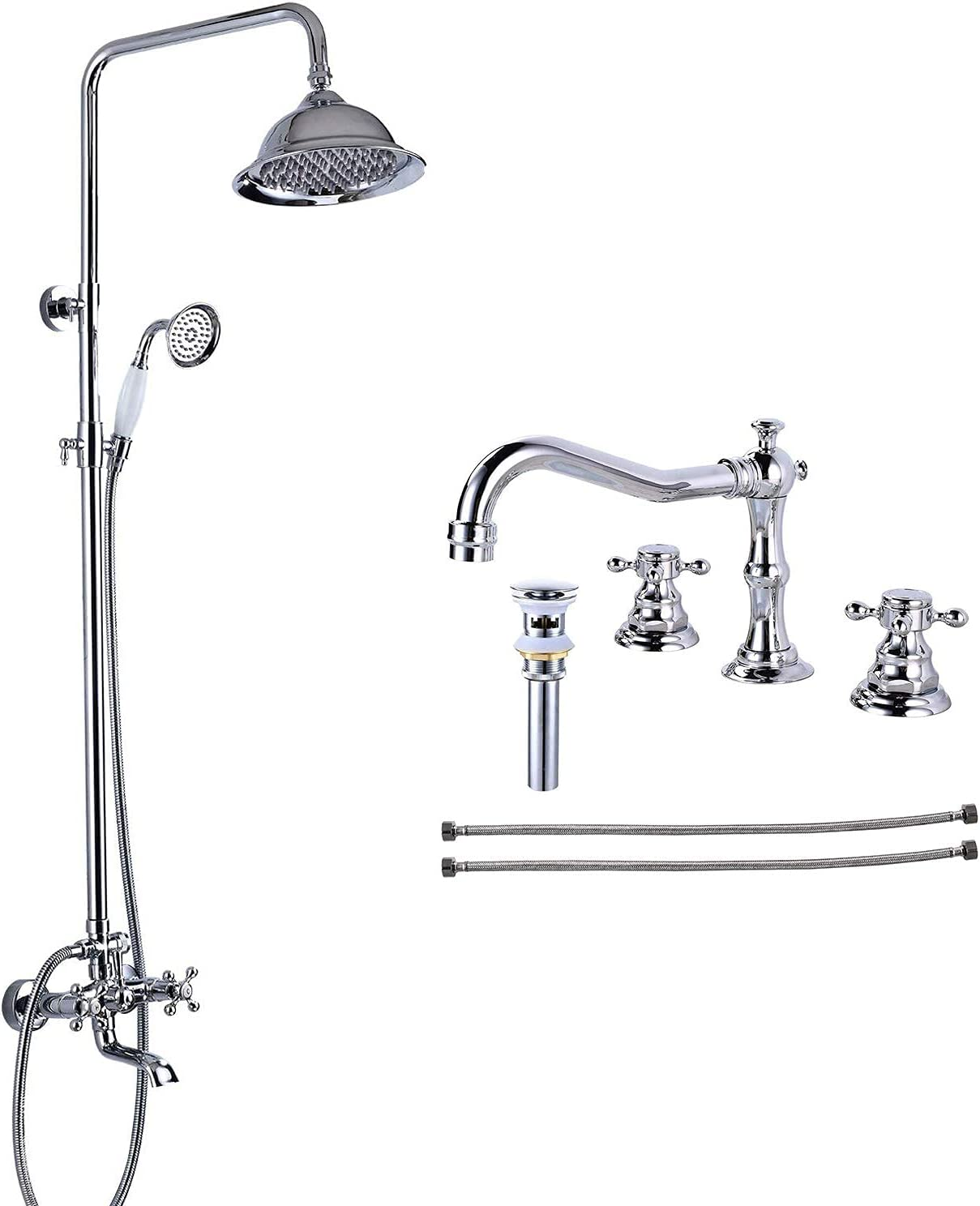 Chrome Polished Shower Fixture 8 Ultra-Cheap Deals Max 42% OFF Head Rainfall with Inch