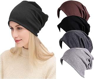 Toptim Women Men Beanie Hats Stylish Thin Hip-hop Hat Soft Stretch Knit Slouchy Skull Cap