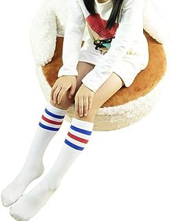 iSpchen, Butterme Unisex Bebé Niños Niñas Niños Algodón Rodilla Alto Clásico Rayas Calcetines Largos Medias Calcetines Deportivos para niños de 1-3 años