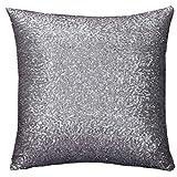 yohope decoración para el hogar color sólido Glitter Lentejuelas manta funda de almohada sofá cuadrado fundas de cojín 40cm * 40cm