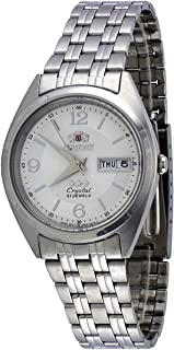 Orient #FAB0000EW Men's 3 Star Stainless Steel White Dial Day Date Automatic Watch