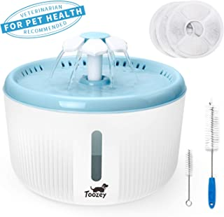 Toozey Cat Water Fountain, 2L Water Fountain for Cats, Automatic Quiet Cat Water Dispenser, Pet Fountain for Cats, Dogs