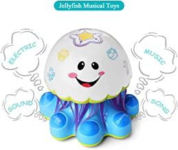 Baby Musical Jellyfish Toy, Electronic Light Up Dancing Play Set w/ Music & Sounds & Lights, Early Development Gift for Infants, Toddlers, Boys and Girls Ages 6 9 12 18 Months & Up (1 to 5 Year Old)