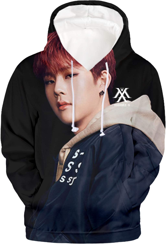 babyhealthy Kpop Monst 3D Digital Printed Wonho Jooheon IM Shownu Minhyuk Hoodie Sweatshirt Pullover