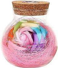 مصباح رومانسي مزود بمصباح RGB Dimmer وزهرة وردية مع مصباح ليلي للتحكم عن بعد هدية لعيد ميلاد الأم