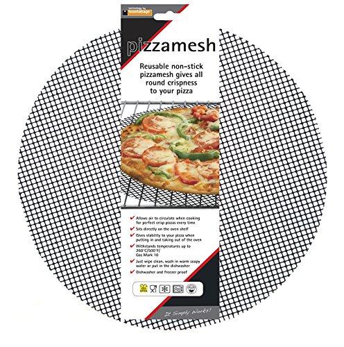 Toastabags Lot de 2 plaques Rondes en Maille pour Pizza, Noir, 32 cm