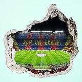 Pegatina vinilo, 100 x 100 cm, diseño de 3D Koziel 'madura' roto Model II Camp Nou
