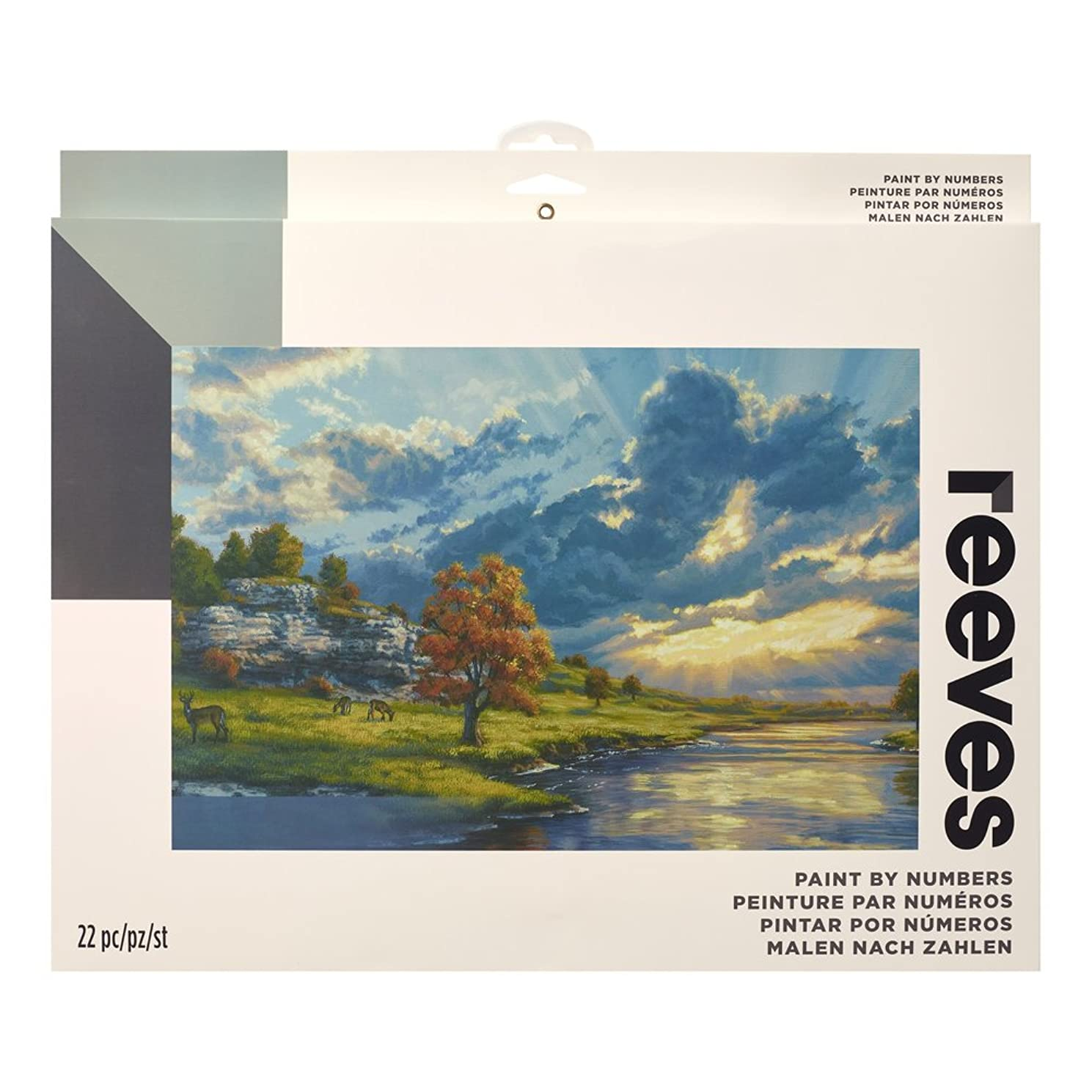 """Reeves Paint by Numbers 12"""" x 16"""" , River's Edge"""