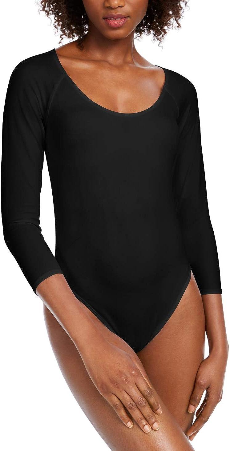 Bar III Women's Scoop Neckline Bodysuit Black Size Medium