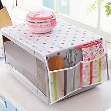 Gouen Horno de microondas Cubierta de Cocina Polvo de Aceite Impermeable Bolsillos Dobles Accesorios de Cocina Suministros Decoración del hogar, Punto