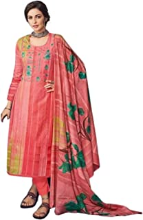 c1d8ab6946 Eaa Collection Women's Pakistani Style Unstitched Cotton Salwar Suit/Dress  Material