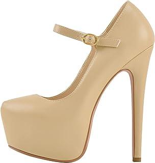 Fashion Slip-on High Heeled Platform Pumps Stiletto Court Shoes for Wedding Dress
