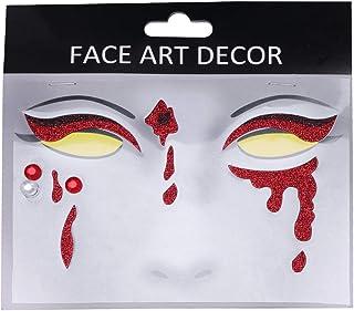 Beaupretty 1 vel Halloween gezichtssticker gezicht edelstenen Tijdelijke tatoeages, glitters, waterdicht, decoratieve stic...