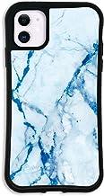 iPhone11 ケース どこでもくっつくケース WAYLLY(ウェイリー) アイフォン11ケース 着せ替え 耐衝撃 米軍MIL規格 [大理石 ブルー] セット MK