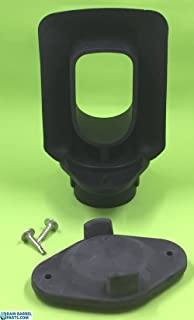 EarthMinded DIY Rain Barrel Diverter Parts for 2x3, 3x4 and Round Downspouts (Diverter, Winter Cover Plate, Parts to fit 3x4 Downpipe)