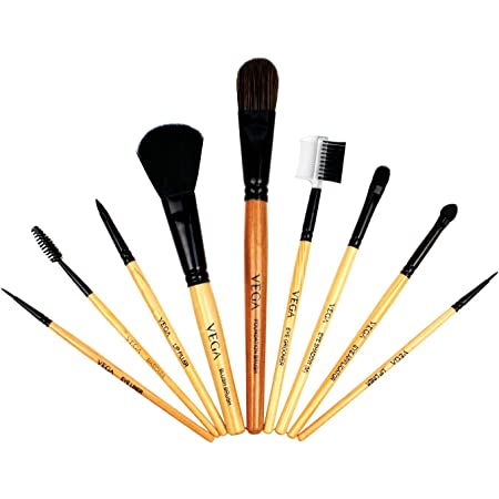 VEGA 9-in-1 Professional Makeup Brush Set, (EVS-9)