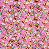 Jersey Stoffe Paw_Patrol rosa Regenbogen Skye 0,50m x VB