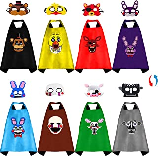 Superhero Capes for Kids Five Nights at Freddys Costumes for Boys Masks for Kids Party Dress(4Pcs)