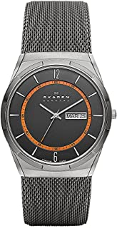 Skagen Men's Quartz Watch with Grey Dial Analogue Display and Grey Stainless Steel Strap SKW6007