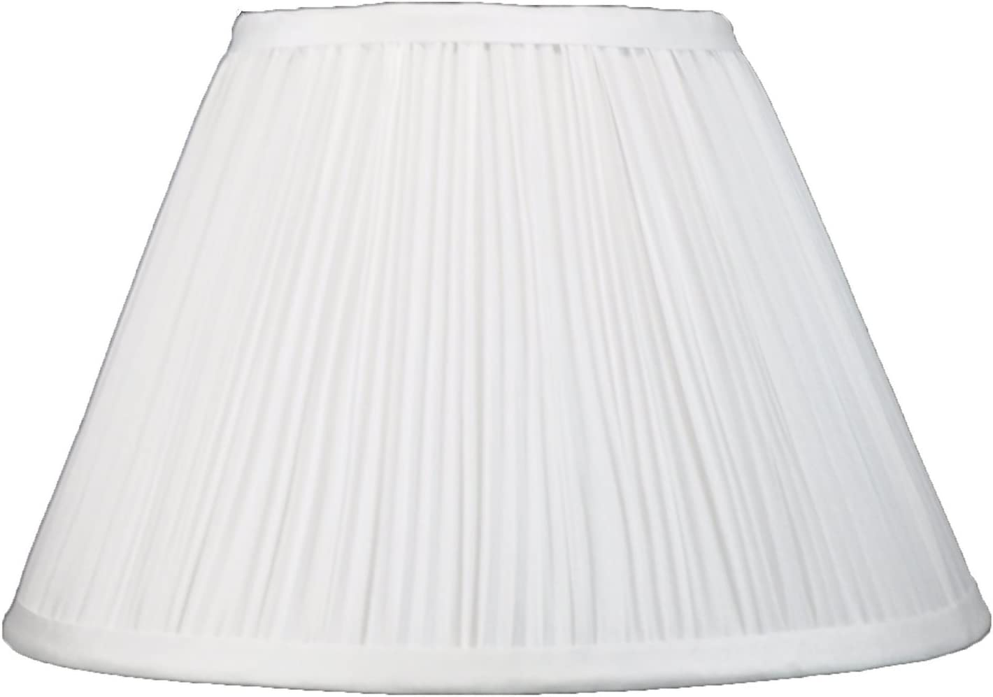 Upgradelights 8 Inch Empire Pleated Clip On Lampshade Replacement White