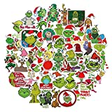 50 Pcs The Grinch Stickers for Car Laptop PVC Backpack Water Bottle Pad Bicycle Waterproof Decal Sticker Kids Toy/Grinch