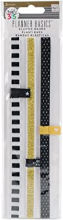 me & my BIG ideas The Happy Planner Elastic Bands - Stylishly Secure Your Pages and Planner Content - Easily Glides Over Planner - Black & White Stripes, Polka Dots, Gold - 3 Pieces