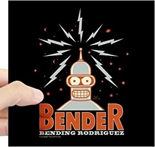 CafePress Futurama Bender Rodriguez Square Sticker 3