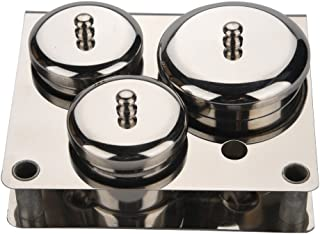 Nail Liquid Container, Mini Stainless Steel Dish Pot Liquid Powder Cup Lid Bowl Nail Art Tools Acrylic Nail Art Equipment Mini Bowl Cup Tray Pot Container Organizer Holder with Lid, 3pcs