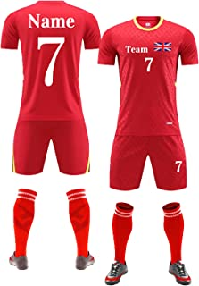 Football Kit for Kids Adults Men Women PersonalisedFootball Shirt Short with Name Number Team Logo