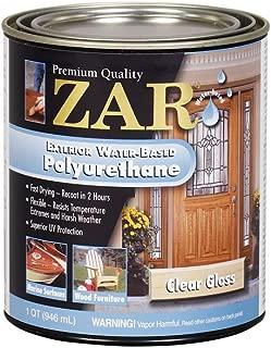ZAR 32612 Exterior Water Based Polyurethane, QT