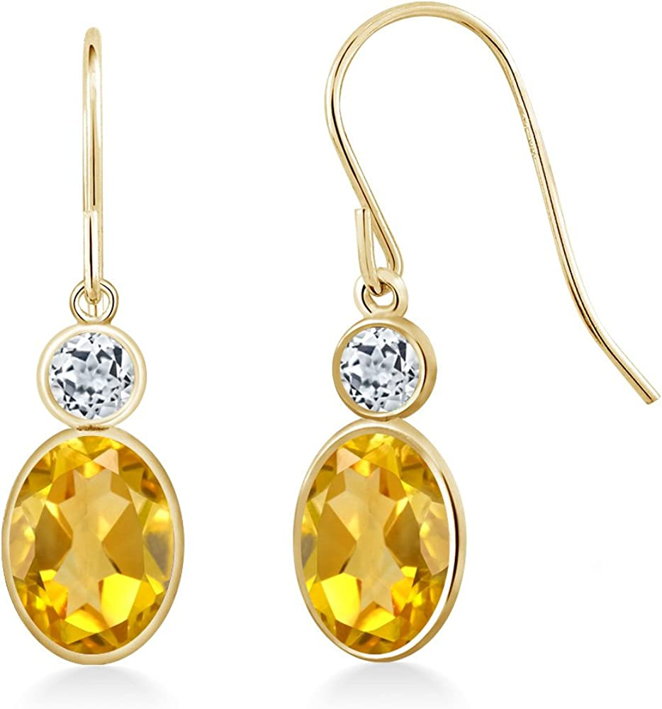 Fashionable Gem Stone King 1.48 Ct Oval Topaz Yellow Large special price Citrine 14K White Yello