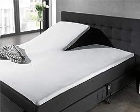 Hoeslaken Splittopper Jersey, Matraschermer voor hoogte van 8 tot 12cm, Split van 90cm, stretchbaar, duurzaam en heerlijk ...