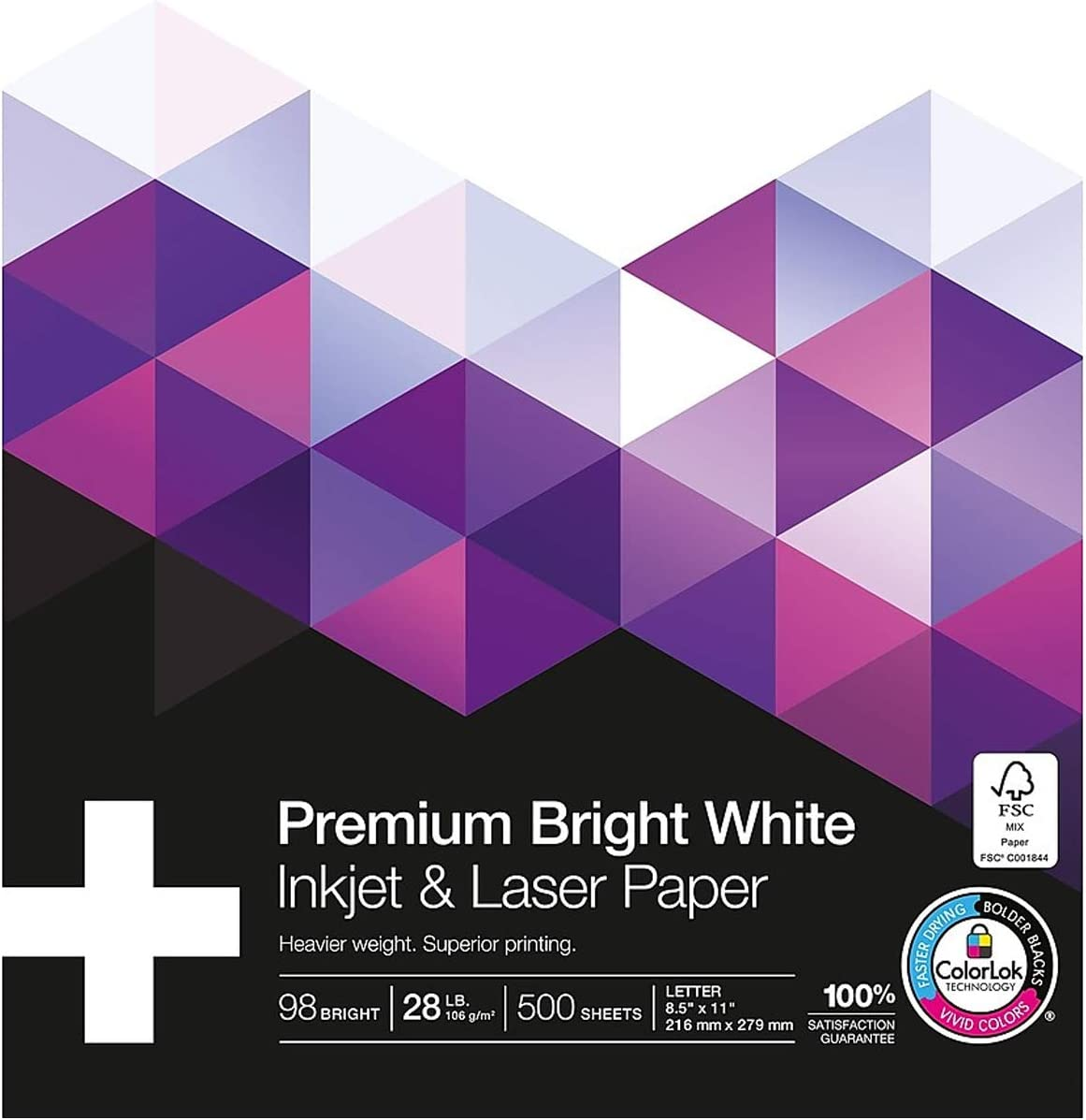 MyOfficeInnovations Max 72% OFF 733333 40% OFF Cheap Sale 8.5x11 Laser 98-Bright Lbs. 28 Paper