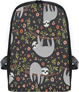 ZZXXB Sloth Floral Backpack Kids Toddler Child Preschool Kindergarten Waterproof Book Bags Travel Daypack for Boys and Girls