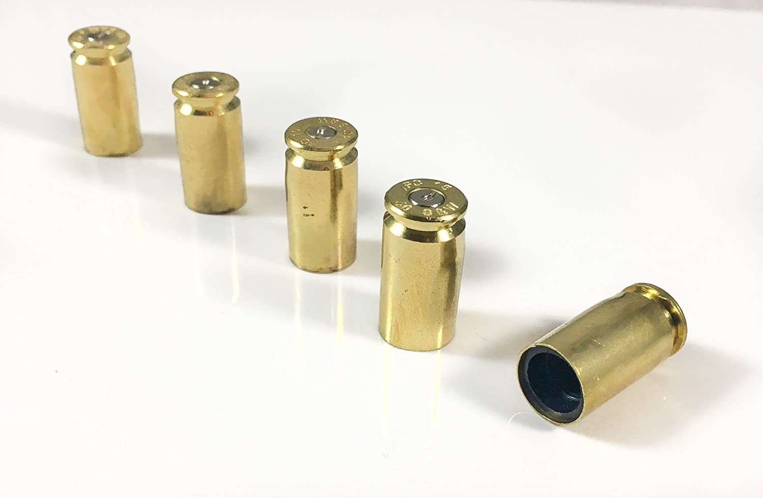 Bullet Tire Caps for Jeeps  Set of 5 Recycled Brass .40 Caliber OnceFired Bullet Casing  Car, Bike, Motorcycle, Truck, ATV Replacement Tire Valve Caps. Groomsmen Gift. Gift for Military and Police. by HollowPoint Gear