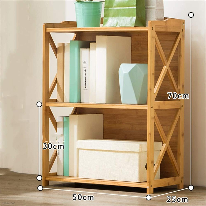 937d2c6e4b8d HUO Simple Bookshelf Floor Racks Solid Multi-Layer Simple Modern Student Storage  Bookcase Bookcases (color 3 Layers 52CM) Wood nodyex7277-Furniture