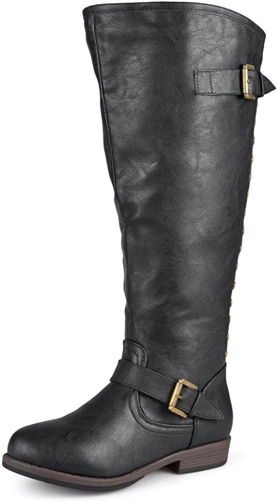 Journee Collection Womens Regular Sized and Wide-Calf Studded Kn