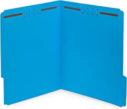 50 Fastener File Folders – 1/3 Cut Reinforced Tab – Durable 2 Prongs Designed..