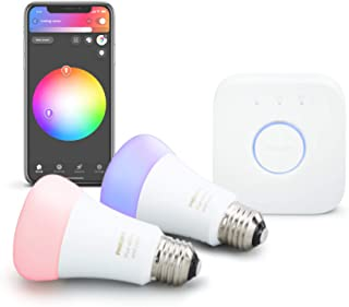 Philips Hue 2-Pack Premium Smart Light Starter Kit, 16...