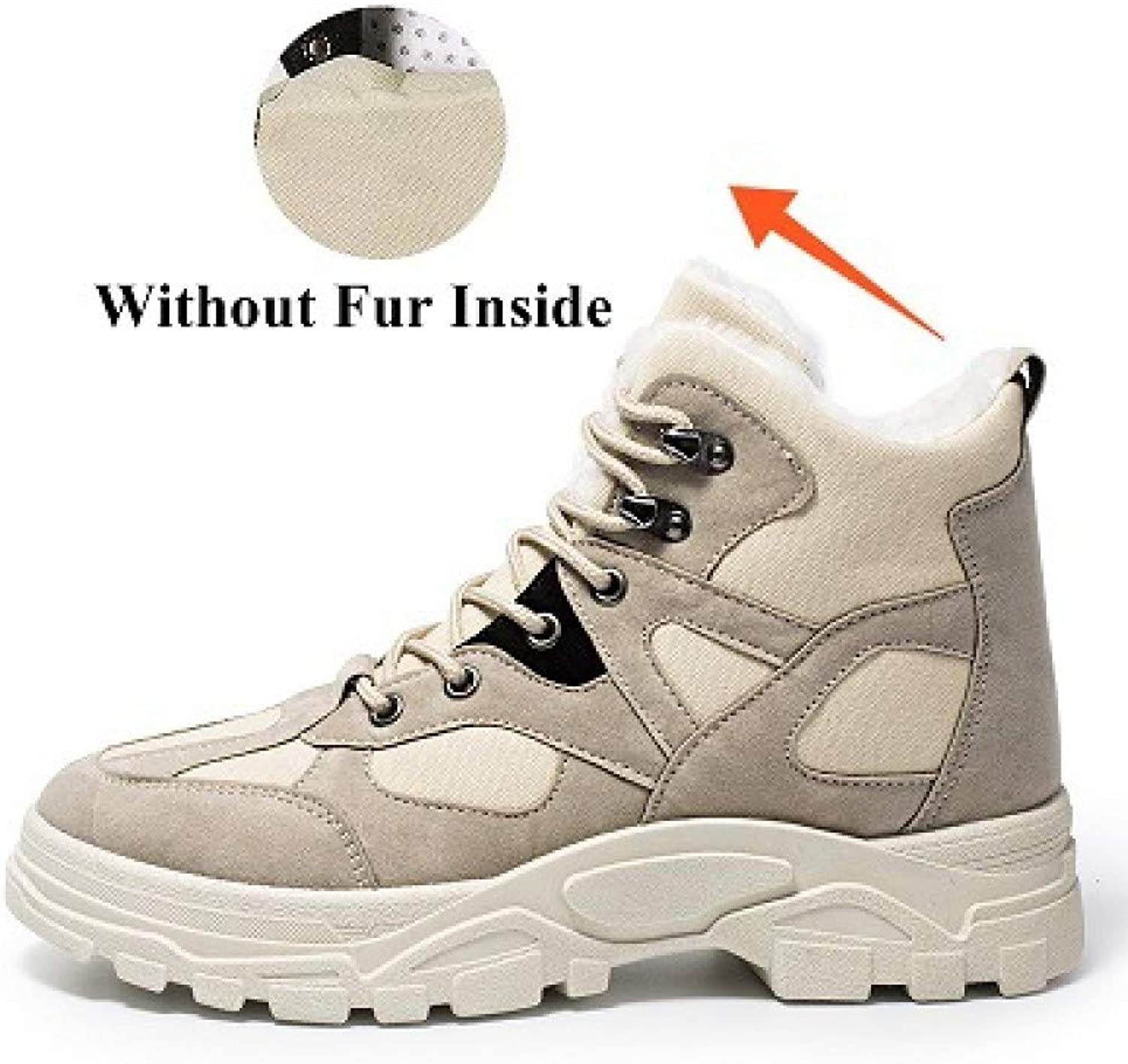 FHCGMX Fashion With Warm Work Boots Male shoes Adult For Men Vintage Canvas Ankle Boots Popular Design New