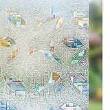 rabbitgoo Sin Cola 3D Vinilos para Ventanas Privacidad Decorativa Cristal Ventana Pelicula Laminas Pegatina Translúcida Vidrio Electricida Estática para Hogar Control de Calor y Anti UV 90x200CM