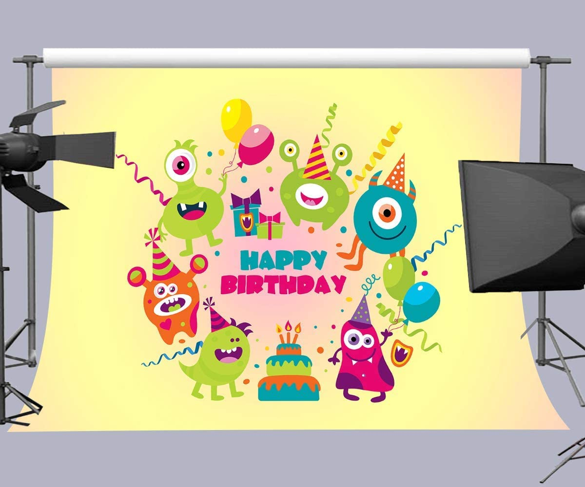 15x10ft Birthday Cake Photography Backdrop Event Photo Props HXFU087