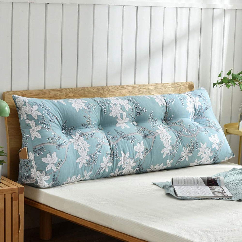 HGDR Canapé-lit Coussin grand Rempli Coussins De Tête De Lit Wedge Bed Lit Lecture Pad Oreiller Bureau Lombaire Pad avec Couverture Amovible,A-180  50  20 cm